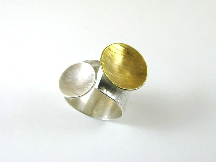 Goldplated/Sterling silver/ring
