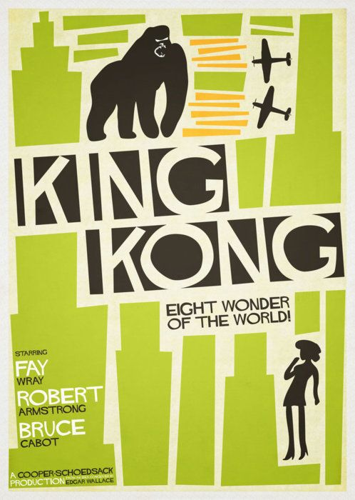 As if Saul Bass had designed King Kong's movie poster.