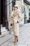 Emaa Dupont, Jigsaw coat, Gucci sunnies, Reiss boots, Prada bag, Aspinal of London gloves