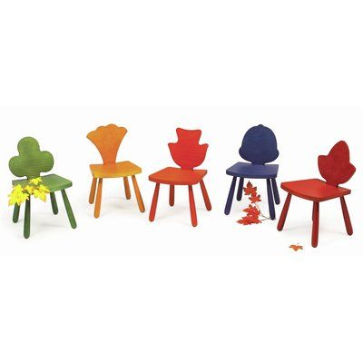 "Children's Furniture Co Leaf Poplar Kids Novelty Chair Size: 23"" H x 14.5"" W x 14"" D, Color: Orange"