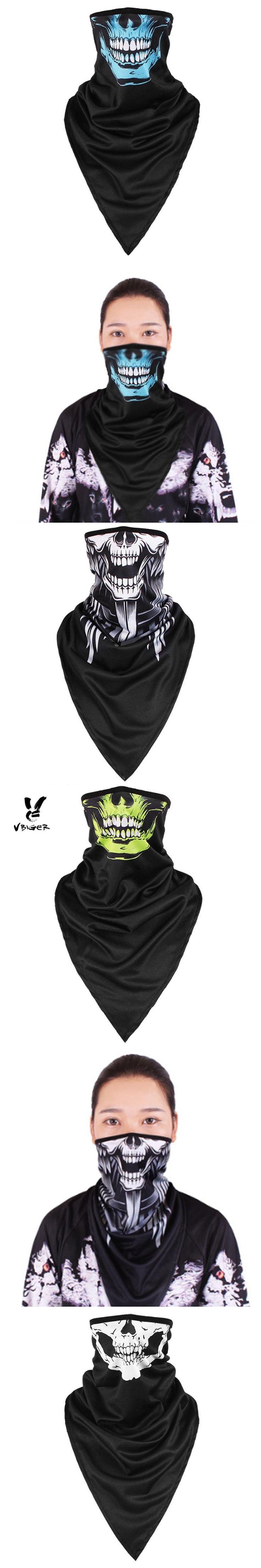 VBIGER Women Men Skull Half Face Biker Bandana Mask Bandanas Scarf Windproof SunProof CS Face Mask for Cycling Hiking