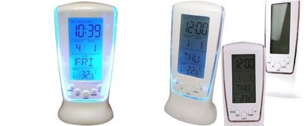 Moderní hodiny s LCD displejem a modrým LED podsvícením !! | SlevyNaMíru.cz - Slevy na míru portál hromadného nakupování