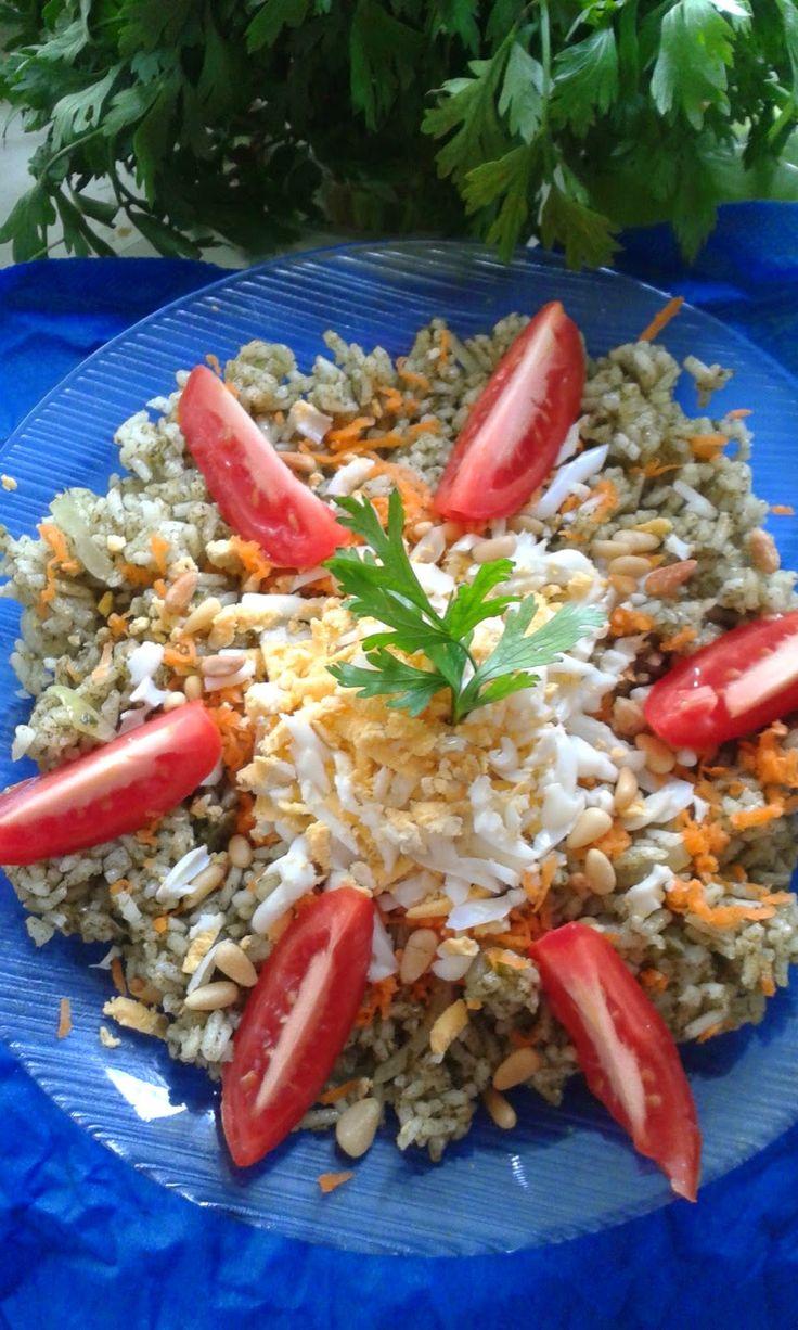 Pesto-s rizs