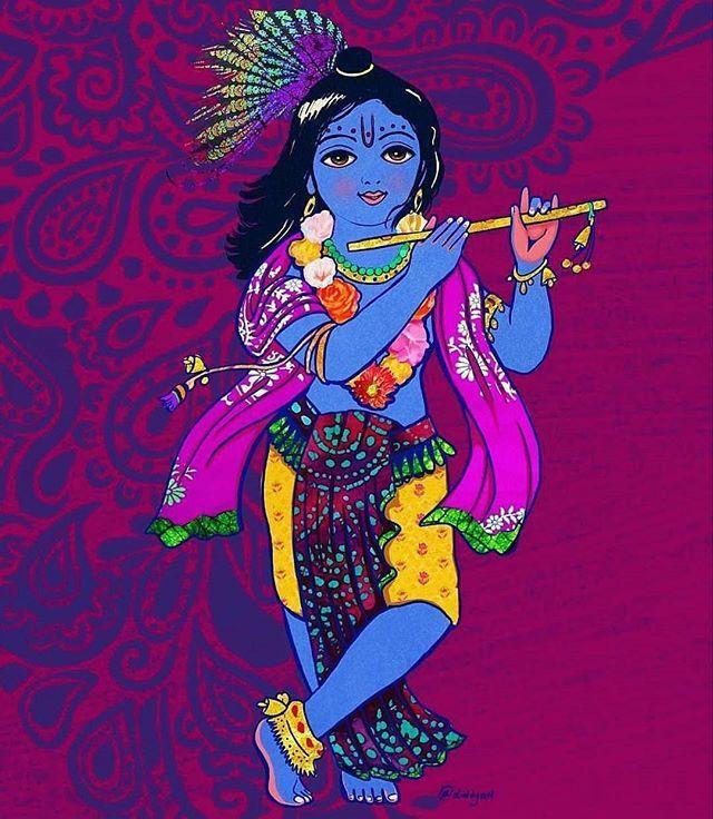 Unknown Artist... DM for credits/removal... #lordkrishna #flute #shiva_ganesha_krishna #photooftheday #radhekrishna #love #peacock #digitalart #cute #krishna #modernart #graphic #jaishreekrishna #hindu #god #oiloncanvas #canvasart #wallpaper #art #artist #murlidhar #devotional #spritual #devine #India #history #epic #graphic #twitter #pin