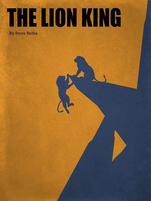 Lion King (Vintage Movie Poster).