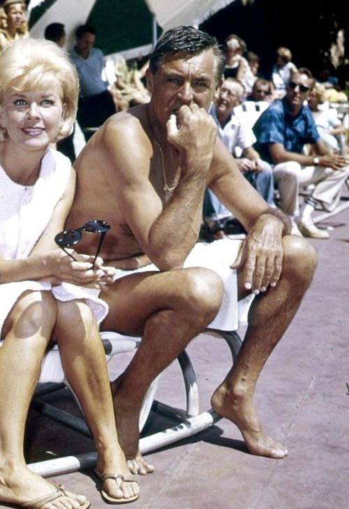 Cary Grant and Doris Day on the set of That Touch of Mink, 1962.