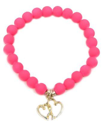 pulsera rosa fluorescente  / Joyería / Moda femenina / Accesorios para mujer