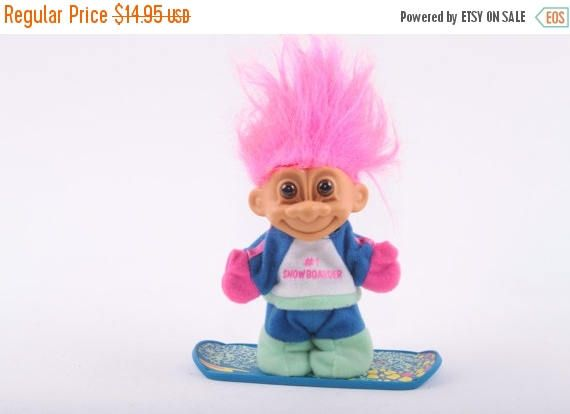 Troll Norfin Russ Dressed Collectible Three Inch Snowboarder Athlete Winter Snowboard Accessories  The Pink Room  161231 by ThePinkRoom