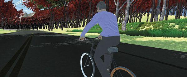 Un recorrido virtual en bicicleta interactiva
