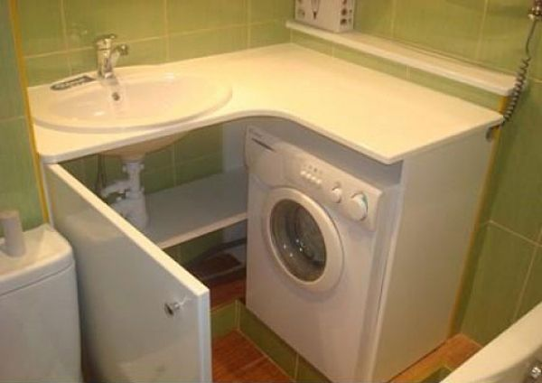 Какай шкаф выбрать для стиральной машины в ванную комнату: разновидности мебели, описание и полезные советы