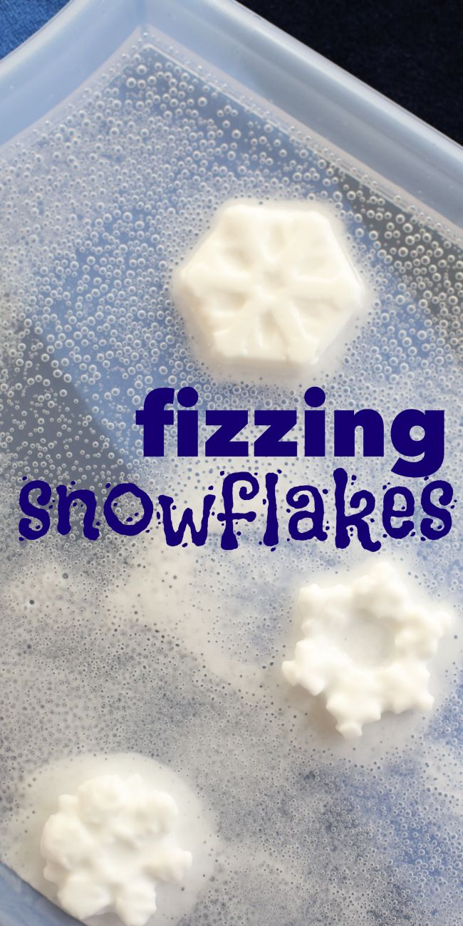 Fizzing Snowflakes great science activity to