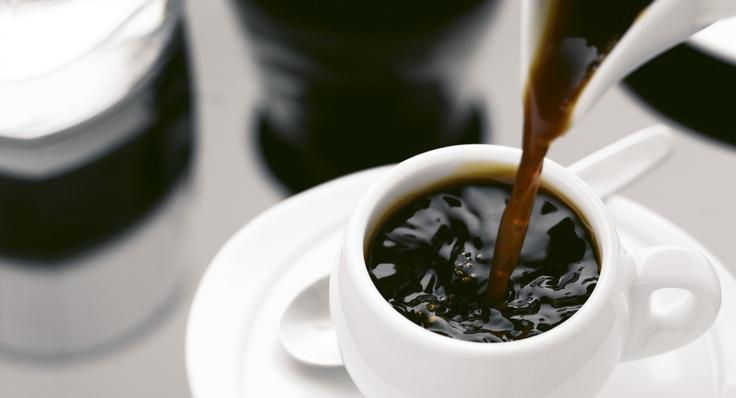Forró őrölt kávé