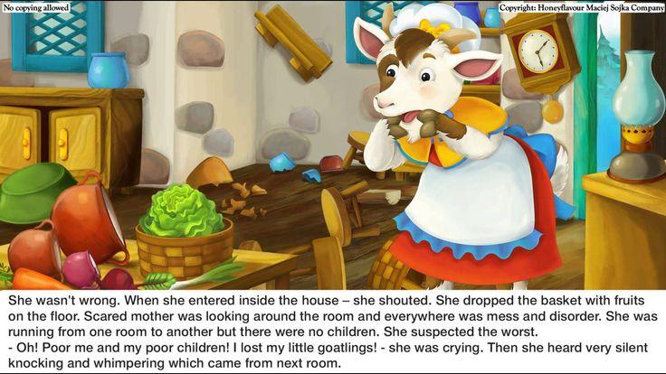 The seven goatlings - fairy tale for children - reading EN