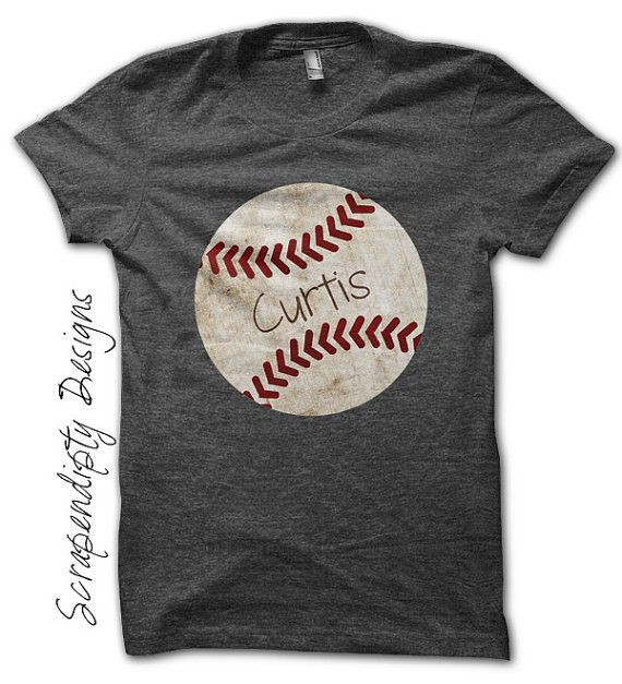 Iron on Baseball Shirt PDF - Sports Iron on Transfer / Customized Baseball Tshirt / Toddler Boys Sports Outfit / Digital Printable  by ScrapendipityDesigns, $4.50