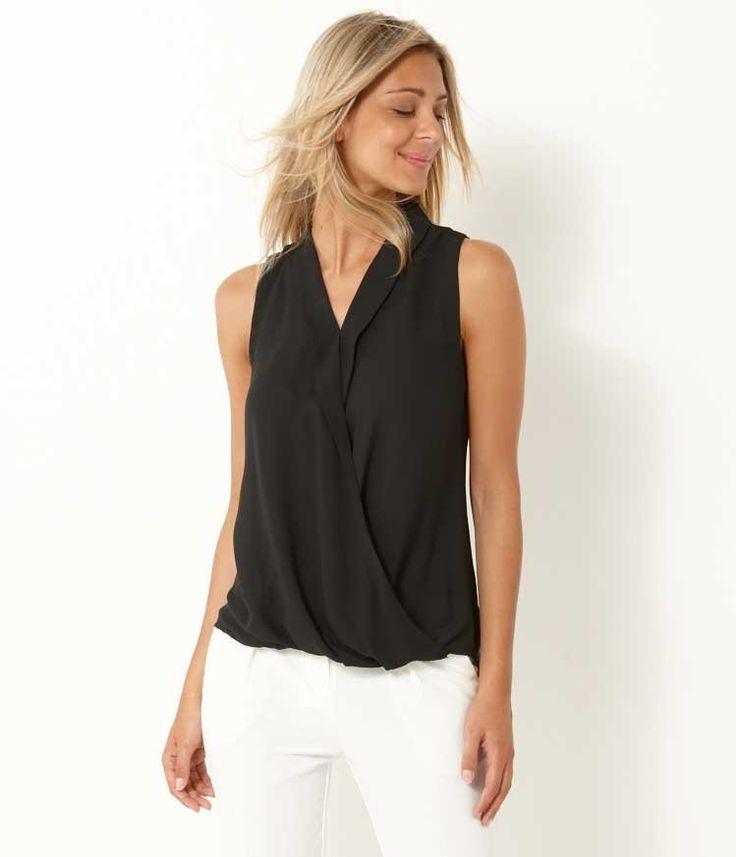 Cross over women's blouse
