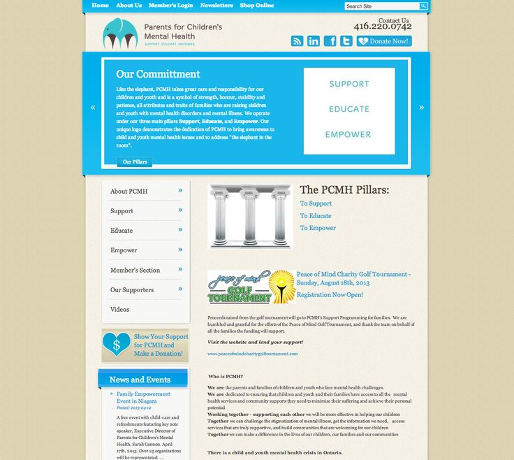 Parents for Children's Mental Health - Website design and development - Treefrog is your web design, graphic design and web development agency. To see more of our work visit www.treefrog.ca