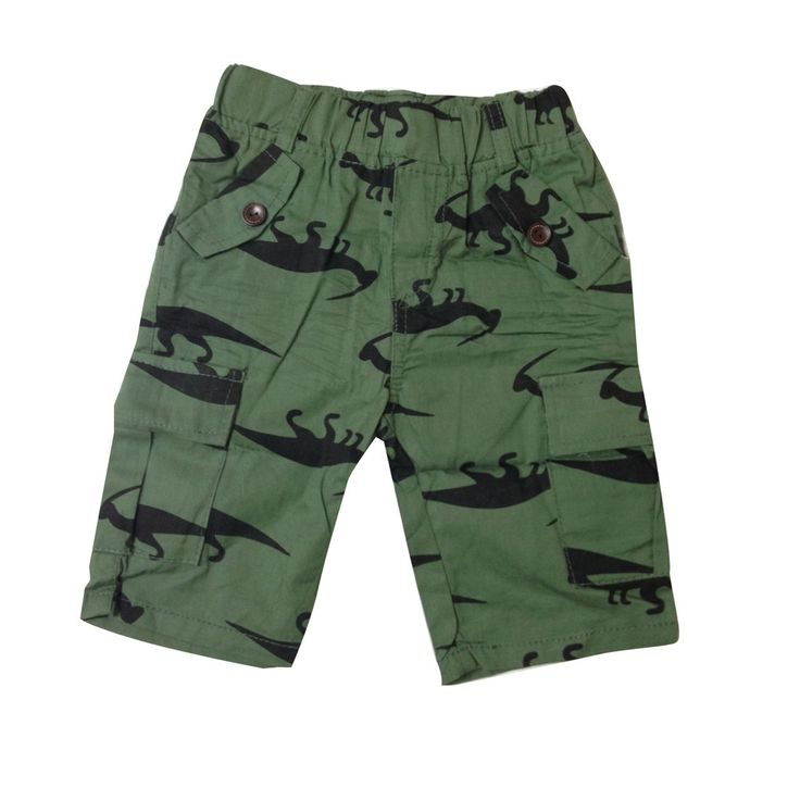 Getting wild in dino shorts!