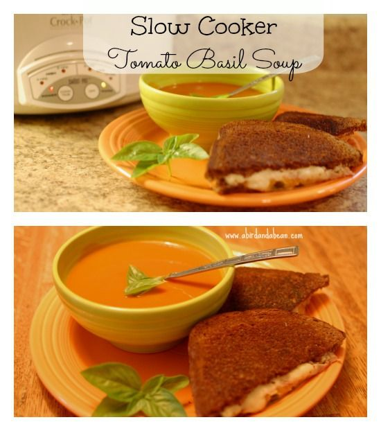 Slow Cooker Tomato Basil Soup | Recipe