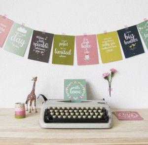 Leuke teksten op deze posters van Petite Louise.   Tip: combineer meerdere posters van Petite Louise en creëer je eigen postermuur met posters en kaarten.
