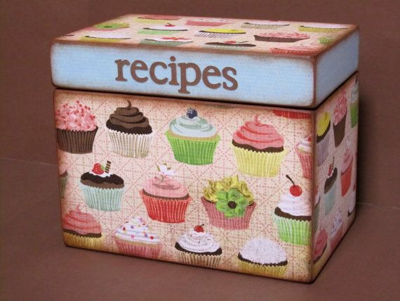 Recipe Box- cupcake. so stoked to make cupcakes. I just bought this tin box yesterday and it came with 90 recipes all of the cupcake related.