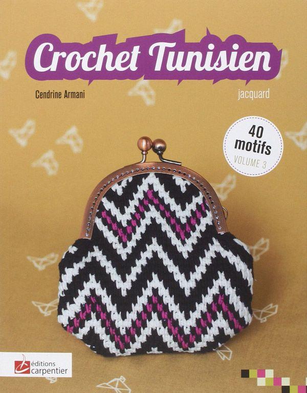 Crochet Tunisien Volume 3 Jacquard, dédié à la technique du crochet tunisien avec 40 motifs de jacquard à appliquer au gré de vos envies ! http://www.magiedelalaine.com/livres-de-crochet/230-crochet-tunisien-v3.html