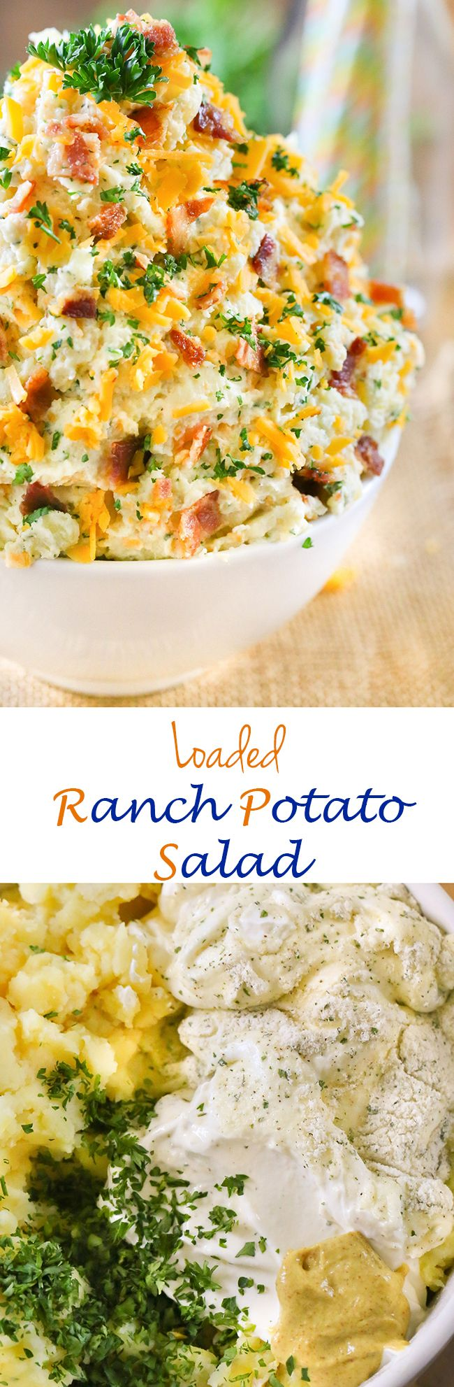 Loaded Ranch Potato Salad - No backyard barbecue is complete without potato salad. This classic recipe is made with a new twist and has a permanent place on our summertime menu with @Frenchs #AD #FrenchsCrowd #FrenchsMustard