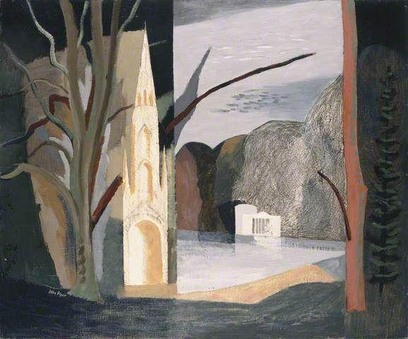 Autumn at Stourhead. 1939 by John Piper (English 1903-1992)