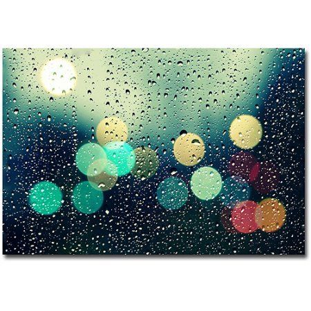 Trademark Fine Art Rainy City Canvas Art by Beata Czyzowska Young, Size: 16 x 24, Multicolor