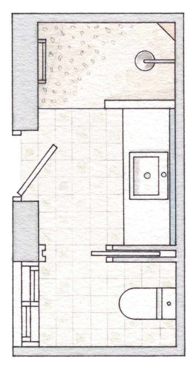M s de 1000 ideas sobre planos de departamentos peque os for Plano de pieza cocina y bano