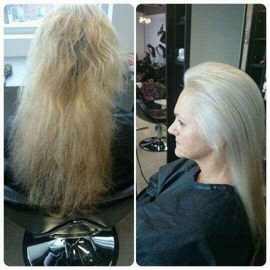 before & after OLAPLEX by @natetric #institutdivas | Hair ...