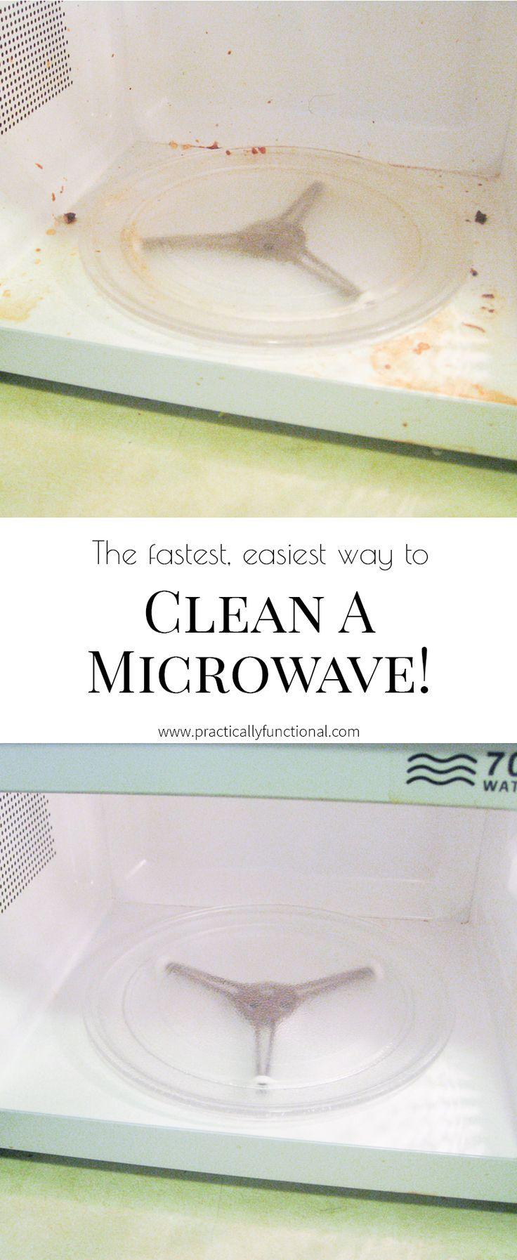 Reinigen Sie eine Mikrowelle in wenigen Minuten!  Alles, was Sie brauchen, ist Essig und Wasser!