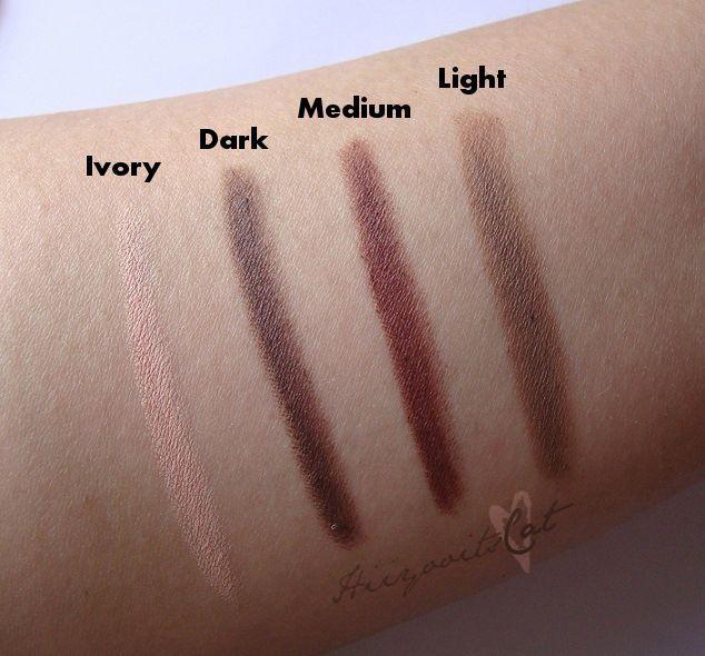Dark (#81603) - Medium (#81602) & Light (#81601) http://www.eyeslipsface.fr/produit-beaute/lifter-et-filler-pour-sourcils