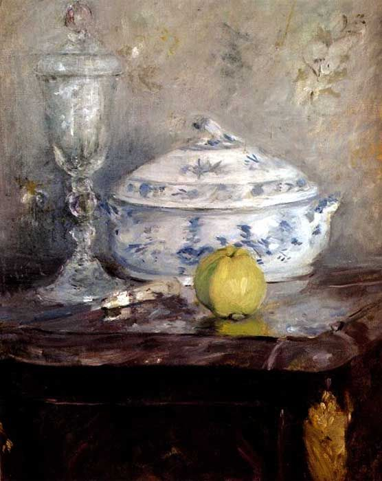 Berthe Morisot (French, 1841-1895) - Tureen and Apple, 1877
