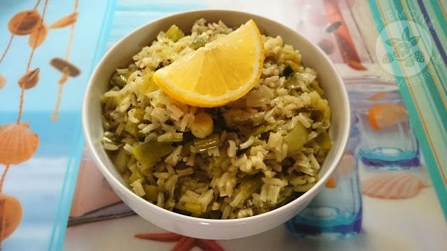 Lemon and Strawberries: Prasorizo (leeks with rice) - Greek traditional di...