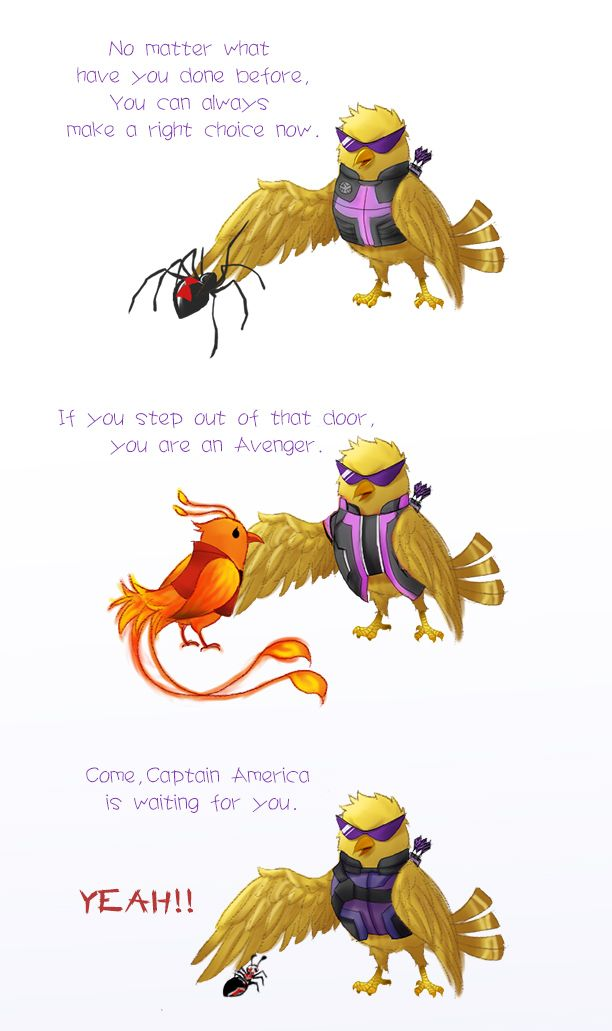 Why is this hilarious. Clint is a little birdie, not even a Hawk!
