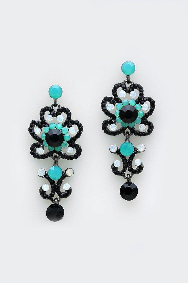 Celeste Earrings in Mint Ebony on Emma Stine Limited