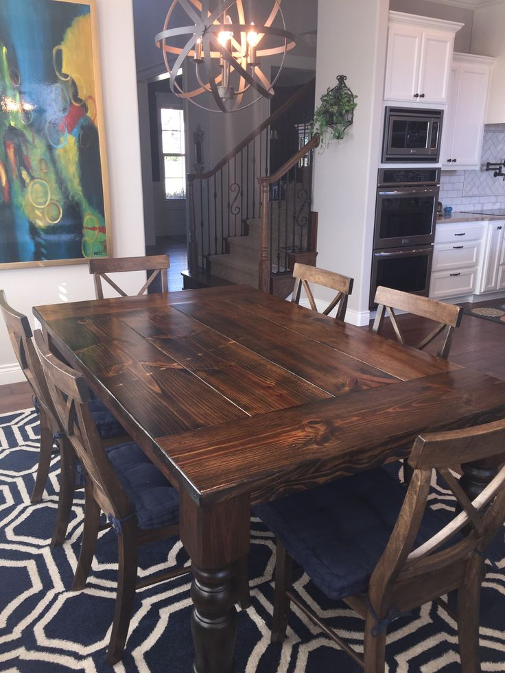 Large Dark Wood Dining Table