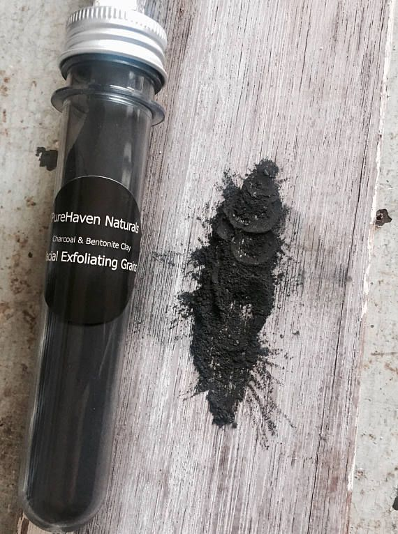 Charcoal Clay Facial Cleansing & Exfoliating Grains. For Oily