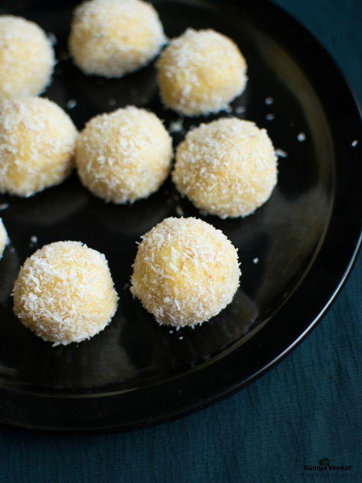 Lemon Kurry: khoya coconut ladoo - coconut mawa peda - coconut ...