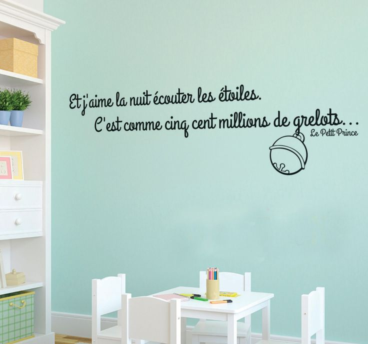 Sticker citation petit prince etoiles