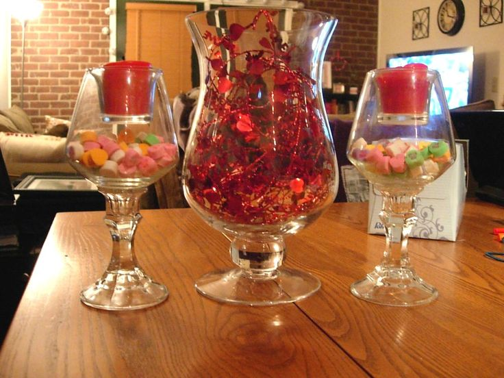 lovely valentines table decoration ideas with diy simple centerpiece candy in unique curved glass and love ornament in glass for valentine table decoration