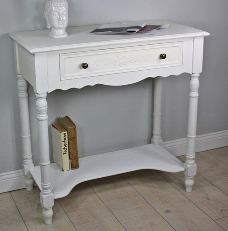 Konsole Beistelltisch weiß antik Holz – Bild 1