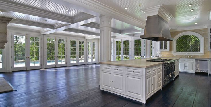 Dream kitchen, living, dining room - interiors - sunroom - designer kitchen - open floorplan - hamptons home
