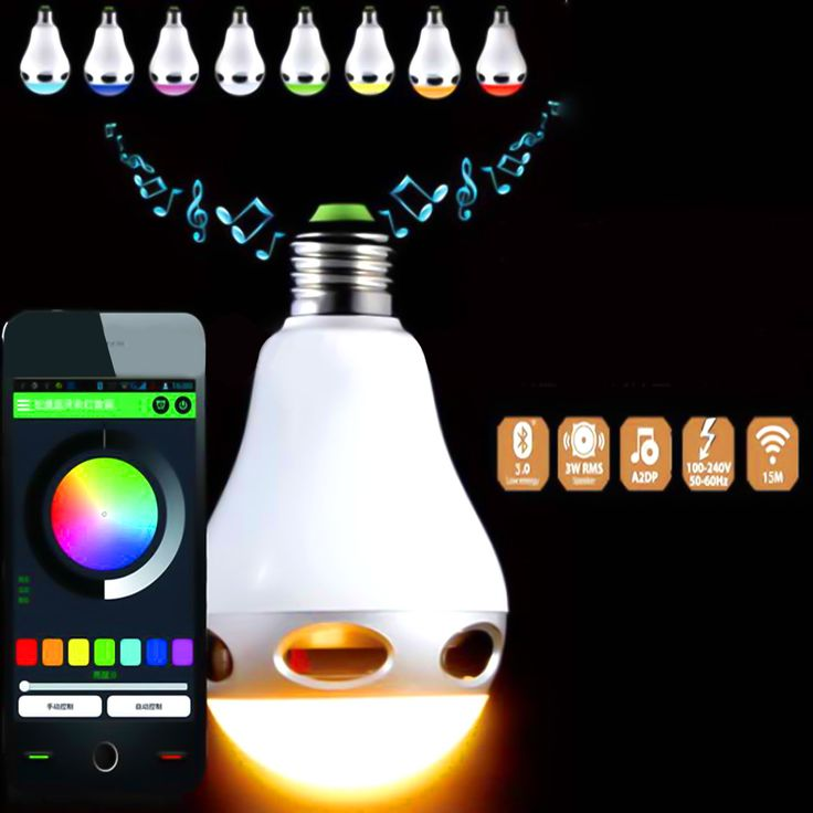 InnoLife - 2 in 1 Bluetooth App Control Music Playing 3W Speaker + Dimmable Multicolored Color Changing LED Lights for Home, Office, Parties, Dinners - US 110 Volts E27 Base (40 Watt Replacement). 2 in 1 Bluetooth Speaker and Dimmable Multicolored Color Changing LED Light Bulb. Up to 45 feet (15m) operation range for ultimate wireless freedom. LED light power: the power of brightest white light is 4W and the colored light is MAX 6W (E27 Base 40 Watt Bulb Replacement). Easy Bluetooth...