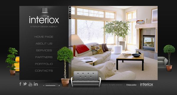 Interiox interior design agency html5 template by dynamic for Interior design sites