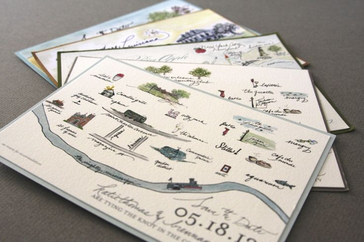 Illustrated Map Save the Date | New Orleans tupelohoneydesign.com