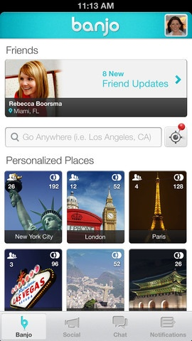 Banjo #Social #Travel #iPHone