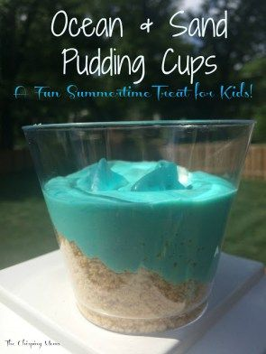 Ocean & Sand Pudding Cups! Adorable and easy snack for an ocean themed school unit!