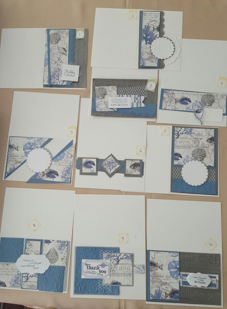 10 cards from 1 scrapbook page layout