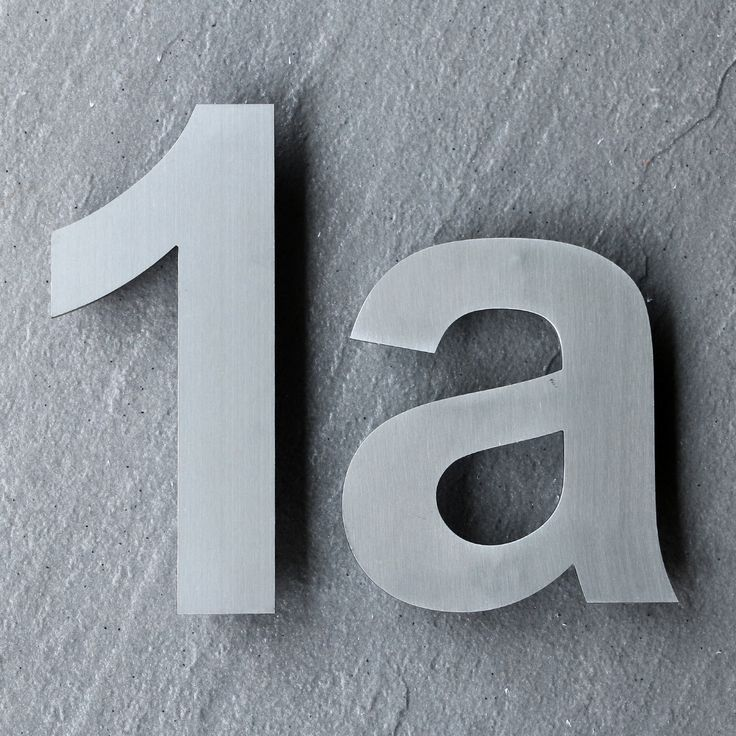 our modern house numbers and letters are now available in the extra large 10 sizes